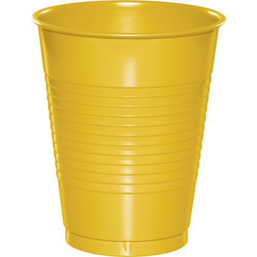 Club Pack of 240 Yellow Disposable Drinking Party Tumbler Cups 16 oz. - IMAGE 1
