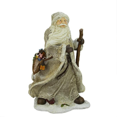 """16.5"""" Country Rustic Forest Santa Claus with Bag Christmas Tabletop Figurine - IMAGE 1"""