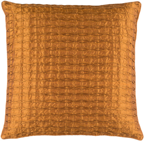 "22"" Brown Contemporary Quilted Square Throw Pillow - IMAGE 1"