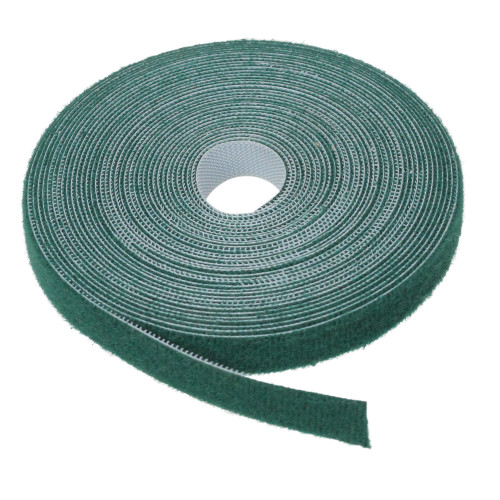 20' Green Hook and Loop Fastener for Hanging Christmas Decor - IMAGE 1