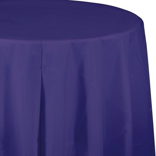 """Club Pack of 12 Purple Octy-Round Disposable Table Covers 82"""" - IMAGE 1"""