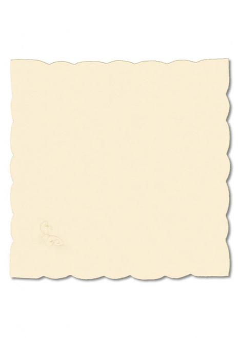 "Set of 4 Noel Glow Embroidered Fine Linen Christmas Napkins 21"" x 21"" - IMAGE 1"