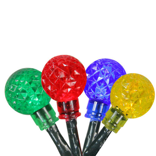240 Multicolor LED G20 Globe Christmas Lights - 80 ft Green Wire - IMAGE 1
