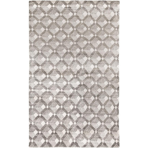 9' x 13' Dark Brown and Ivory Rectangular Area Throw Rug - IMAGE 1