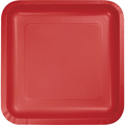 """Club Pack of 180 Classic Red Disposable Paper Party Banquet Dinner Plates 9"""" - IMAGE 1"""