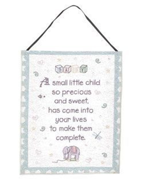 """Precious Child New Baby Wall Hanging Tapestry 12"""" x 18"""" - IMAGE 1"""