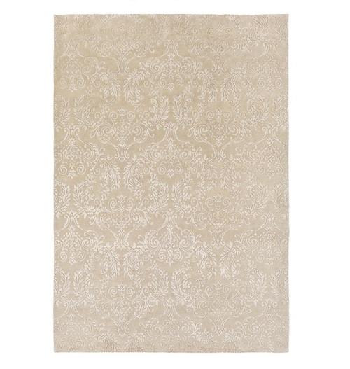 6' x 9' Brown Contemporary Hand Knotted Rectangular Wool Area Throw Rug - IMAGE 1