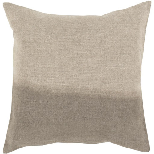 """20"""" Light Brown and Gray Dip Dyed Decorative Throw Pillow - Down Filler - IMAGE 1"""