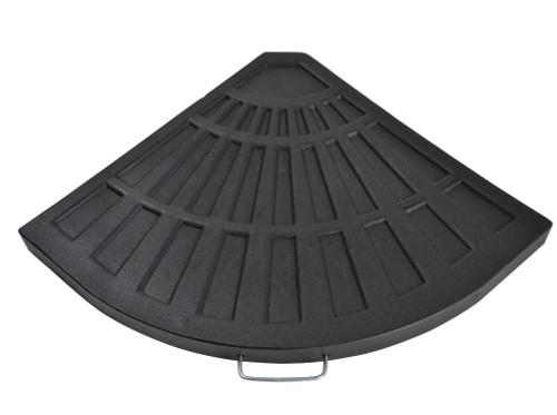 "26"" Matte Black Fan Shaped Sector Outdoor Patio Umbrella Base - IMAGE 1"