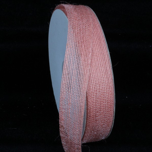 "Peach Pink Woven Edge Craft Ribbon 1"" x 108 Yards - IMAGE 1"