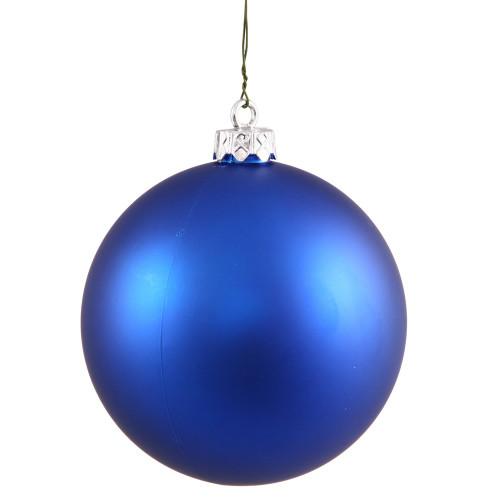 "Matte Blue Shatterproof Christmas Ball Ornament 2.75"" (70mm) - IMAGE 1"