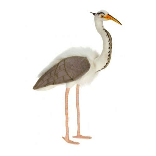 "27.5"" Lifelike Handcrafted Extra Soft Plush Great Blue Heron Bird Stuffed Animal - IMAGE 1"