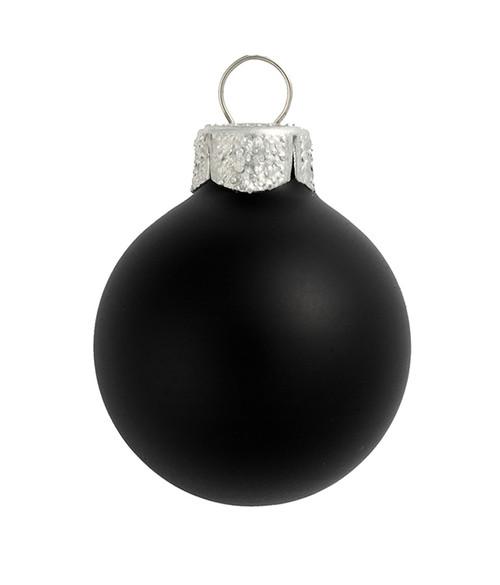 "4ct Black Glass Matte Christmas Ball Ornaments 4.75"" (120mm) - IMAGE 1"