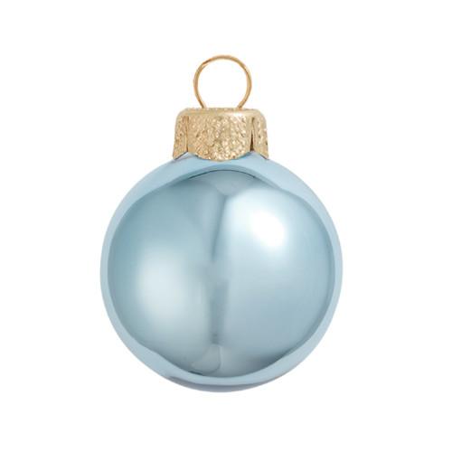 "4ct Shiny Sky Blue Glass Ball Christmas Ornaments 4.75"" (120mm) - IMAGE 1"