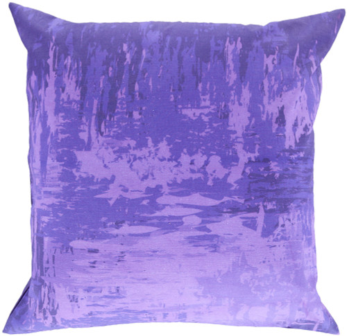 """22"""" Purple Solid Contemporary Square Throw Pillow - IMAGE 1"""