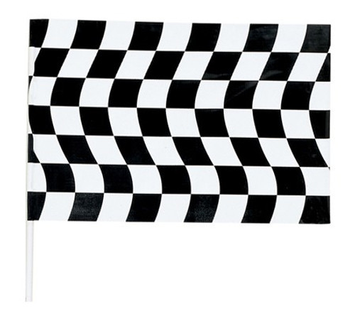 """Club Pack of 12 Black and White Jumbo Checkered Party Flag Decorations 36"""" - IMAGE 1"""