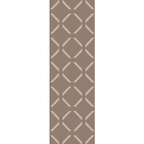 2.5' x 8' Taupe Brown and Ivory Rectangular Area Throw Rug Runner - IMAGE 1