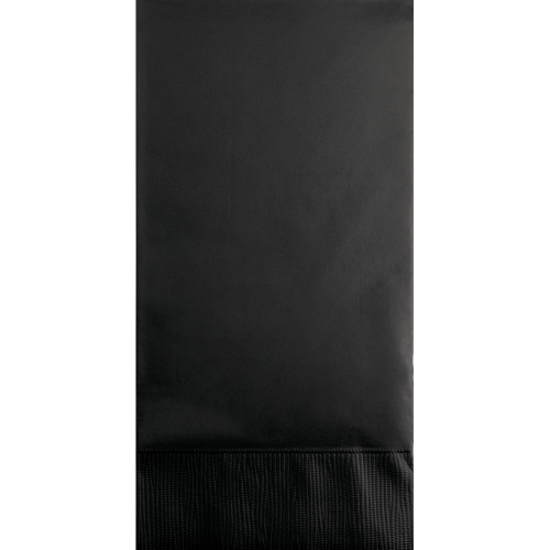 """Club Pack of 192 Jet Black 3-Ply Disposable Party Guest Napkins 8"""" - IMAGE 1"""