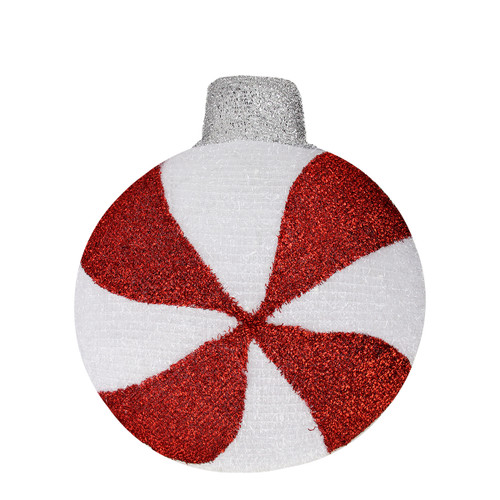"""17.25"""" Pre-Lit Red and White LED Peppermint Twist Hanging Christmas Wall Decor - IMAGE 1"""