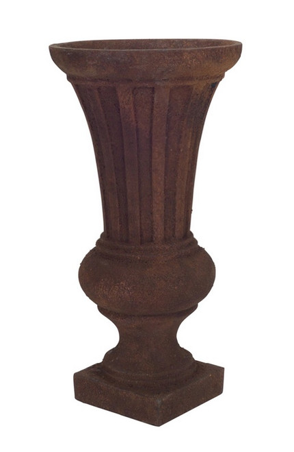 """12"""" Brown Distressed Antique-Style Rust Planter - IMAGE 1"""