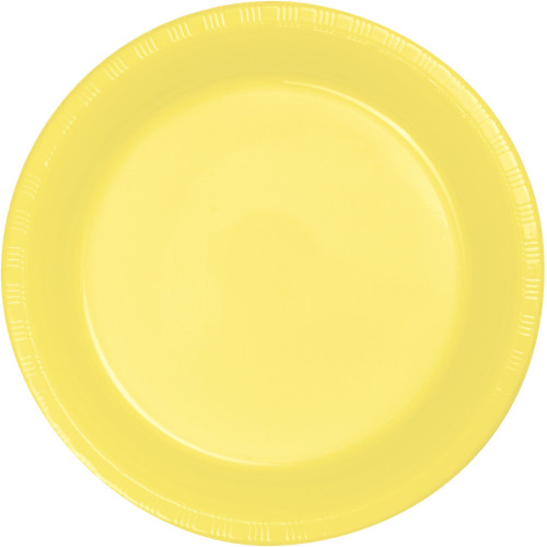"Club Pack of 240 Mimosa Yellow Disposable Party Lunch Plates 6.75"" - IMAGE 1"
