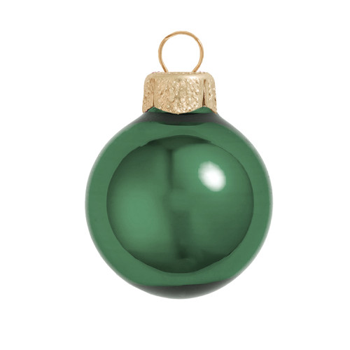"Shiny Emerald Green Glass Ball Christmas Ornament 7"" (180mm) - IMAGE 1"
