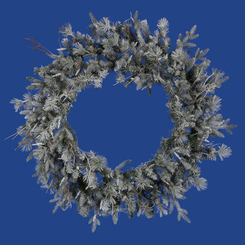Frosted Wistler Fir Artificial Christmas Wreath - 36-Inch, Unlit - IMAGE 1