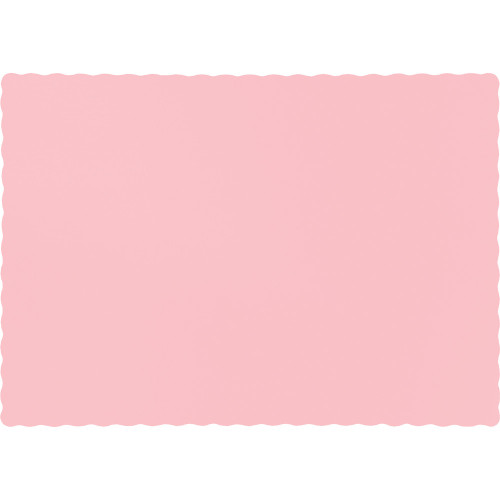 """Club Pack of 600 Pink Solid Disposable Table Placemats 13.5"""" - IMAGE 1"""