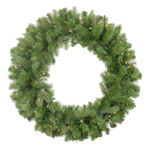 Pre-Lit Noble Fir Artificial Christmas Wreath - 30-Inch, Clear Lights - IMAGE 1