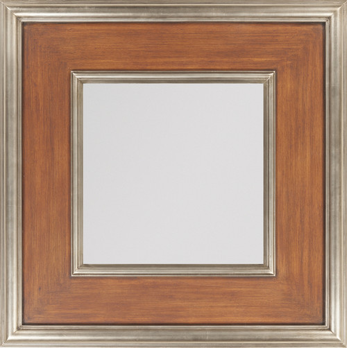 "27"" x 27"" Wooden Framed Beveled Rectangular Wall Mirror - IMAGE 1"