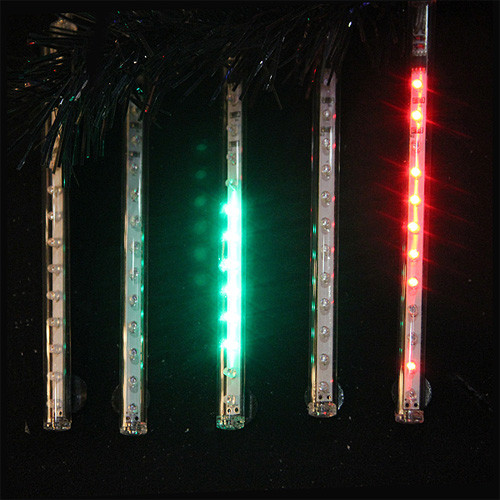 Set of 5 Red and Green LED Single Sided Christmas Light Tubes 32' - IMAGE 1