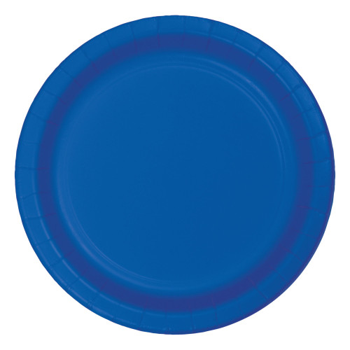 """Club Pack of 96 Cobalt Blue Disposable Paper Party Banquet Dinner Plates 9"""" - IMAGE 1"""