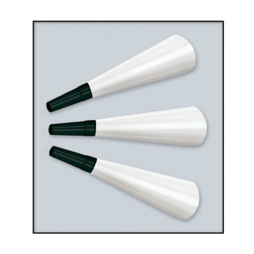 """Club Pack of 100 White and Black New Year's Eve Legacy Foil Trumpet Horn Party Favors 9"""" - IMAGE 1"""