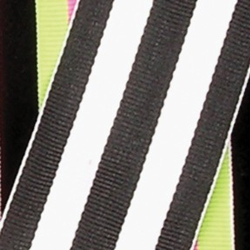 """Black and White Striped Woven Grosgrain Craft Ribbon 1.5"""" x 55 Yards - IMAGE 1"""