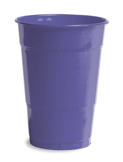 Club Pack of 240 Grape Purple Premium Disposable Round Drinking Party Tumbler Cups 16 oz. - IMAGE 1