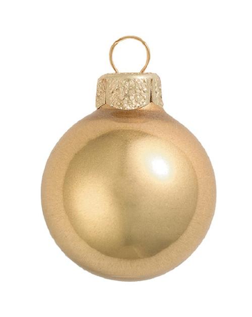 "40ct Metallic Gold Glass Ball Christmas Ornaments 1.25"" (30mm) - IMAGE 1"