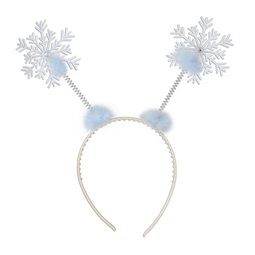 Club Pack of 12 Snowflake Christmas Bopper Headband Costume Accessories - One Size - IMAGE 1
