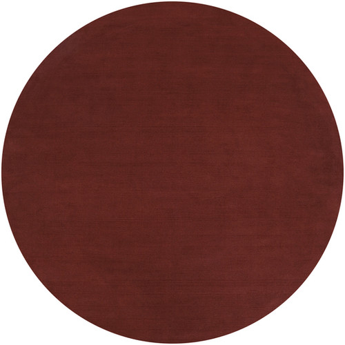 6' Etruscan Red Hand-Loomed Wool Round Area Throw Rug - IMAGE 1