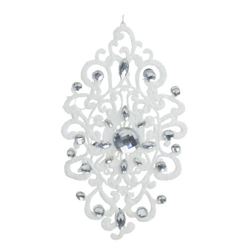 """8.25"""" White and Silver Contemporary Lace Doily Christmas Ornament - IMAGE 1"""