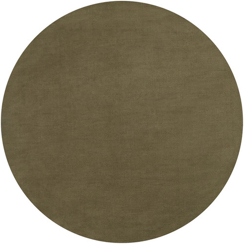 9.75' Green Contemporary Hand-Loomed Wool Round Area Throw Rug - IMAGE 1