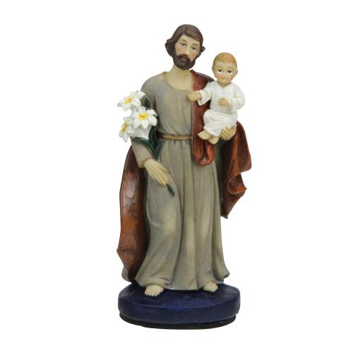"4"" Religious St. Joseph with Child Car Automobile Dashboard Figure - IMAGE 1"