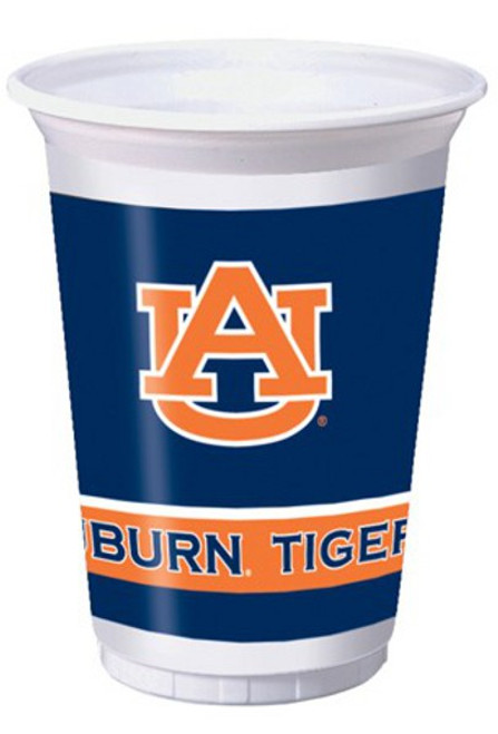 96 NCAA Auburn University Tigers Plastic Drinking Tailgate Party Cups - 20 oz. - IMAGE 1