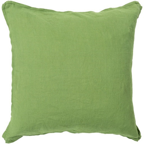"""22"""" Pear Green Contemporary Solid Square Throw Pillow - IMAGE 1"""