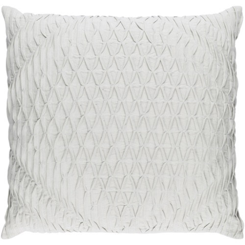 """18"""" Cloud Gray Woven Pinched Diamond Decorative Square Throw Pillow - Down Filler - IMAGE 1"""
