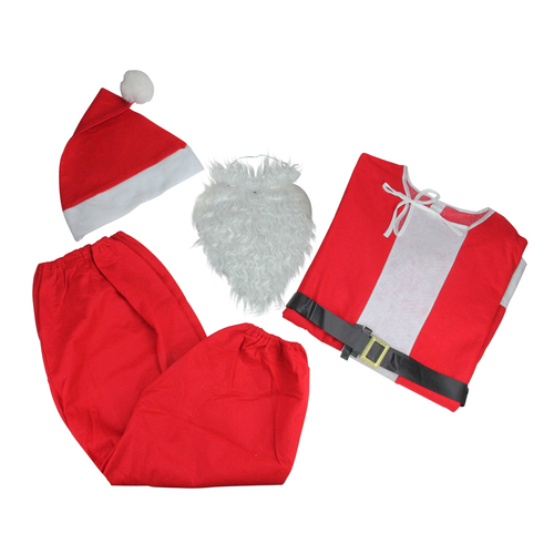 Red and White Santa Claus Unisex Adult Christmas Costume - One Size - IMAGE 1