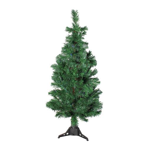 4' Pre-Lit Artificial Spiral Pine Christmas Tree - Multi Color Lights - IMAGE 1