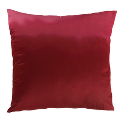 """18"""" Red Contemporary Solid Square Throw Pillow - IMAGE 1"""
