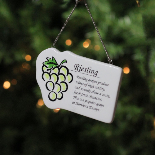 """Grapes White Wine /""""Riesling/"""" Christmas Ornament"""