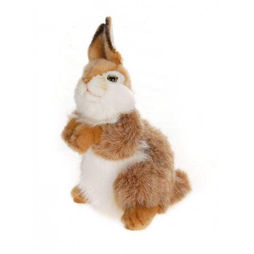 Set of 3 Brown and White Handcrafted Plush Carmel Baby Bunny Rabbit Stuffed Animals 11.75'' - IMAGE 1