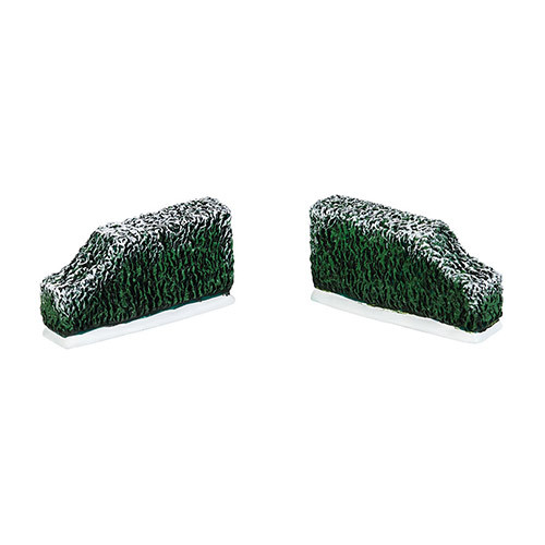 """Set of 2 Green and White Tudor Gardens Tapered Edge Accessory 3.25"""" - IMAGE 1"""
